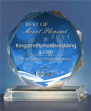 Kingstreetphotoweddings.com has been selected for the 2011 Best of Mount Pleasant Award in the Professional Photographers category by the US Commerce Association (USCA).