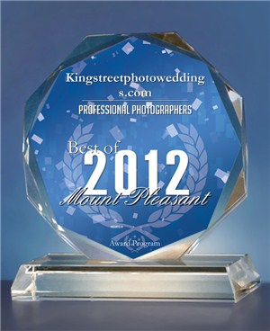 Kingstreetphotoweddings.com Receives 2012 Best of Mount Pleasant Award For The Second Year In A Row