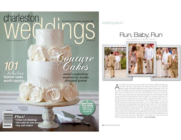 Michel Berda King Street Photo Weddings Daniel Island Is featured In Charleston Wedding Magazine