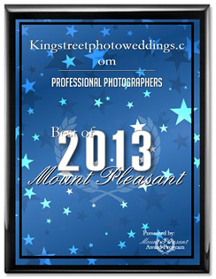 King Street Photo Weddings Professional Photographer Receives 2013 Best of Mount Pleasant Award For The Third Year In A Row