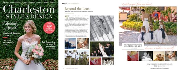 Charleston Style & Design 2014 Spring Bridal Issue Feature Michel Berda