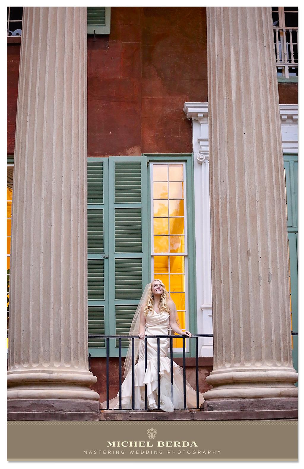 Bridal Portrait Cistern Charleston, Sc